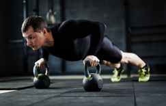 Istock man working out at gym